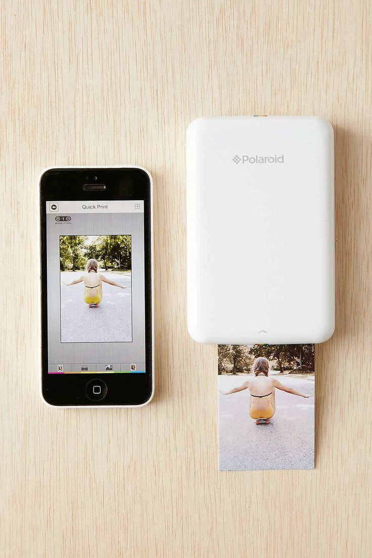 This is a polaroid printer and it is super cool. You connect it to your phone and download its app and you then choose a photo from your library and print it at home or on the go