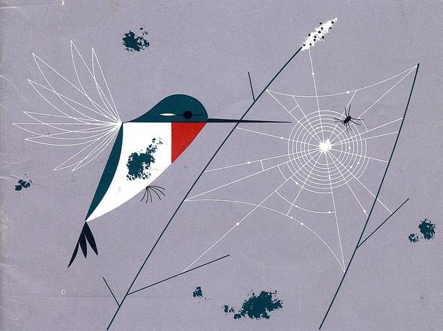 Hummingbird by Charley Harper.