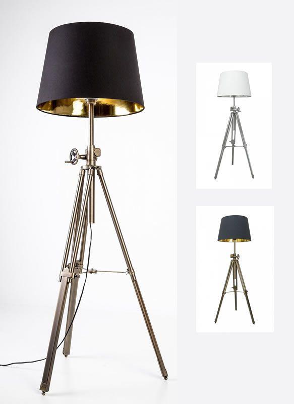 Lampa stojąca (podłogowa) marki Zuma Line dostępna w dwóch kolorach, gotowa do zamówienia w sklepie: http://zlampami.pl/1034-seville-lampa-stojaca.html