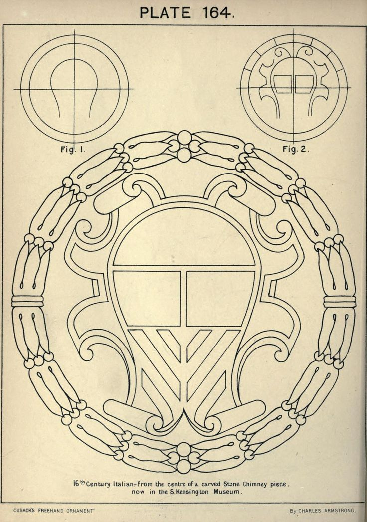 Cusack's freehand ornament, 1895. Plate 164