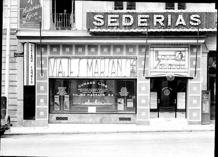 Agencia de Viajes Marsans en la Gran Vía, década de 1930 Archivo Morena Fototeca del Patrimonio Histórico Ministerio de Cultura
