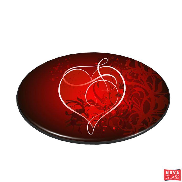 Περιστρεφόμενη βάση με ψηφιακή εκτύπωση Φ30 Κωδ. BG4476-5   Nova Glass e-shop