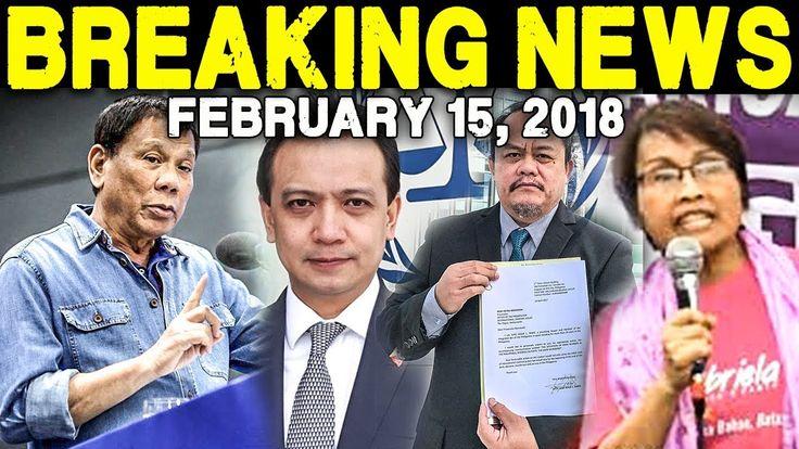BREAKING NEWS TODAY FEBRUARY 15 2018 PRESIDENT DUTERTE l TRILLANES l ATT...