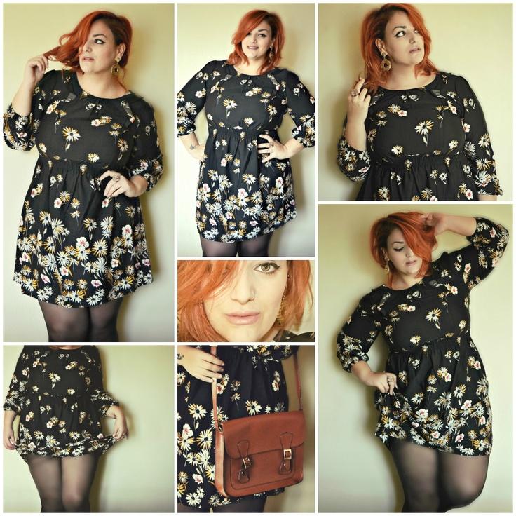 fashion moda plus size pretty curvy red hair bbw chubby girl woman blogger style outfit model