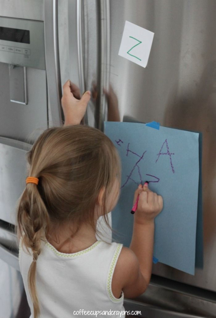 Find and Write Letter Scavenger Hunt - Coffee Cups and Crayons
