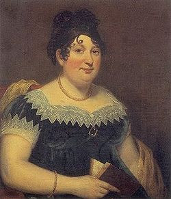 Lord Byron - Wikipedia, the free encyclopedia - portrait of Catherine Gordon, Lord Byron's mother by Thomas Stewardson