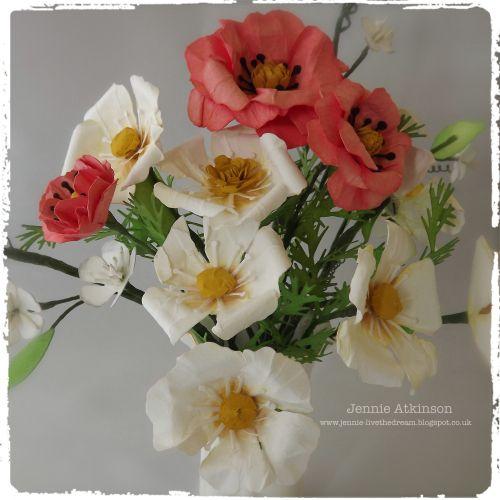 205 best flower making tutorials images on pinterest paper flowers flower bouquet tutorial uses tattered flower tim holtz die mightylinksfo