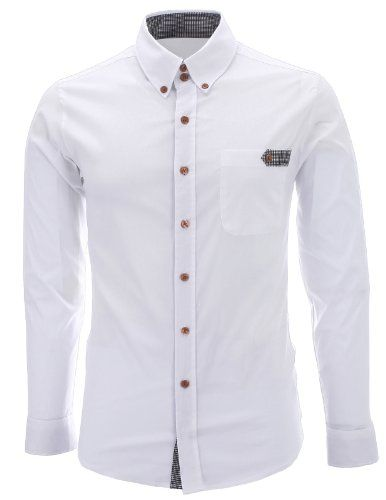 FLATSEVEN Mens Slim Fit Plaid Pointed Casual Dress Shirts White, L FLATSEVEN http://www.amazon.com/dp/B00FEEKHB4/ref=cm_sw_r_pi_dp_Mtk1ub1TMM98K #FLATSEVEN #Mens #SlimFit #Casual #Dress #Shirts #Fashion #Casual #Denim