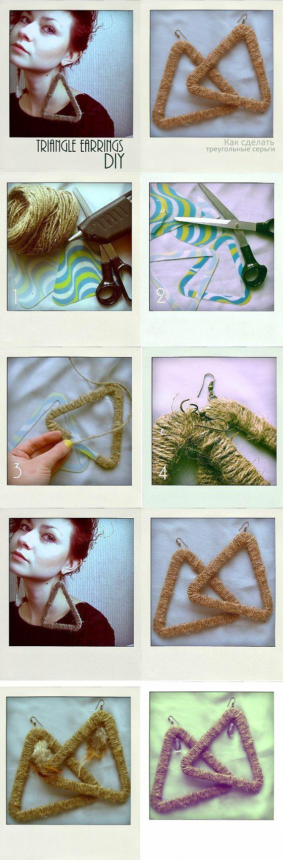 Треугольные серьги (мастер-класс) / Украшения и бижутерия / Модный сайт о стильной переделке одежды и интерьера
