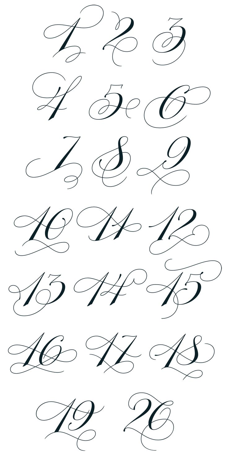 Best 25 Number Fonts Ideas On Pinterest Number Tattoo