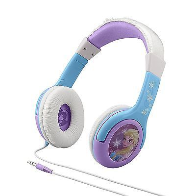 """Here we have a new pair of official Disney FROZEN Movie Anna & Elsa """"Cool Tunes"""" Volume-Reduced Ear Cushion Kids Headphones. The model number is FR-140. Anna & Elsa character graphics and styling. Listen to all your favorite songs on your very own stereo headphones with graphics from the new movie Frozen! 