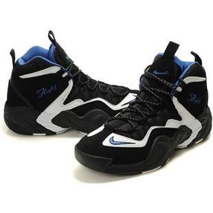 http://www.asneakers4u.com/ Penny Hardaway Shoes   Nike Air GO LWP Black/White/Blue Sale Price: $69.50