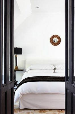 Clean Lines, Black And White Bedroom