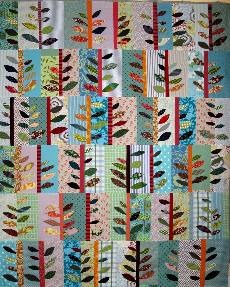 applique leaves quilt