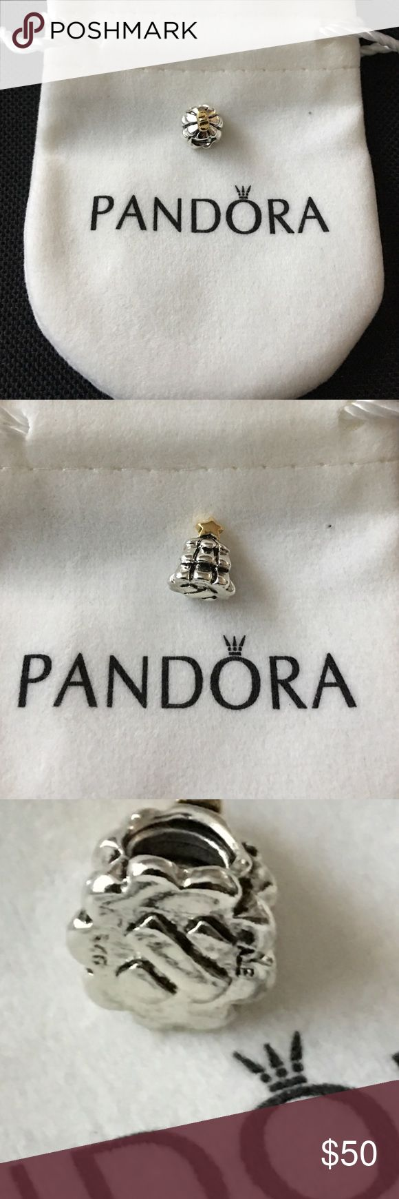 Authentic 14K gold Christmas tree charm Authentic 14K gold stamped 925 ALE Christmas tree charm in excellent condition.Please NO LOWBALL OFFERS Pandora Jewelry