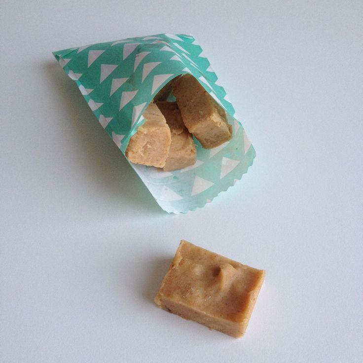 Gezonde pindakaas fudge