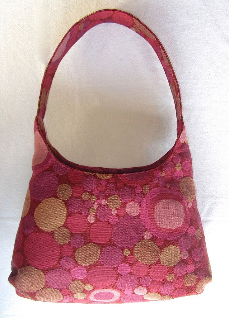 Fashionable Hobo Style Handbag in Modern Pinks and Magenta dotted Fabric by WendyEdwardsDesigns on Etsy https://www.etsy.com/listing/228201709/fashionable-hobo-style-handbag-in-modern