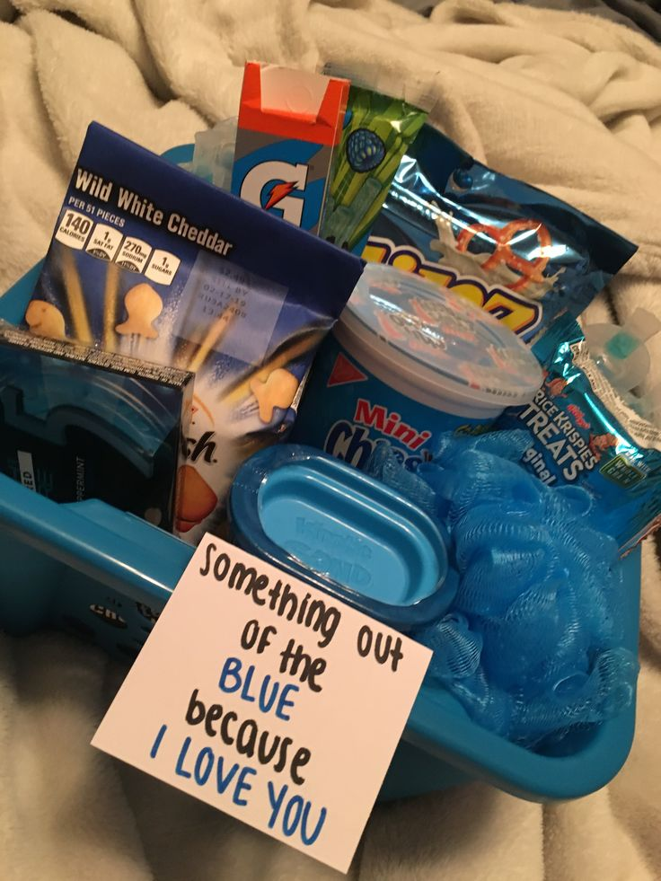 Something out of the blue because I love you boyfriend gift