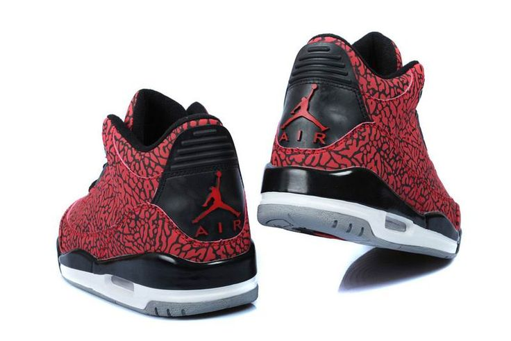 Cheap Retro Jordan 3 Red Black Grey White