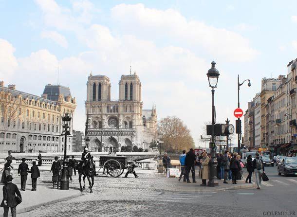 Quand le Paris de 1900 rencontre le Paris de 2014 (image)
