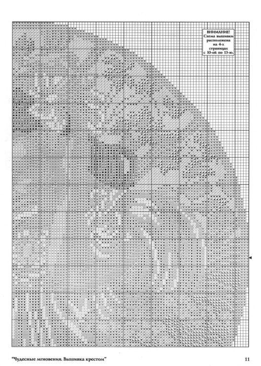 """Borduurpatroon Kruissteek """"De Maanden"""" van Alfons Mucha *Cross Stitch Pattern """"The Months"""" ~Juni 3/5~"""