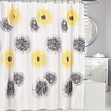 image of Blossum Fabric Shower Curtain