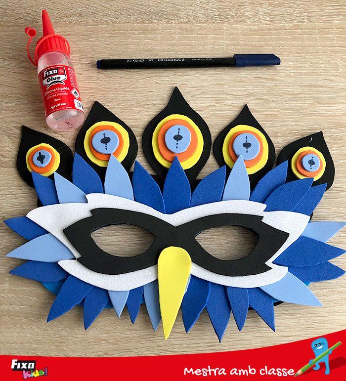 Sigue este tutorial y consigue crear tú mismo una máscara de carnaval con forma de Pavo Real con goma EVA de colores  #Carnaval #ManualidadesGomaEVA #GomaEVA #Foam Carnival Crafts, Avengers Birthday, Party Cakes, Childhood, Arts And Crafts, Handmade, Kids Part, Shape, Ideas