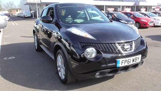 Used 2012 (61 reg) Black Nissan Juke 1.6 Tekna 5dr for sale on RAC Cars