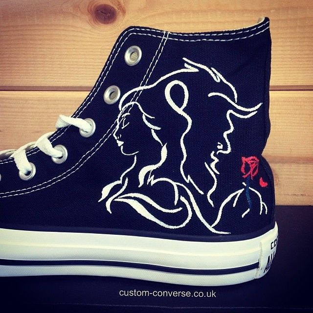 Beauty & The Beast Converse #converse #customconverse #chucks #disney…