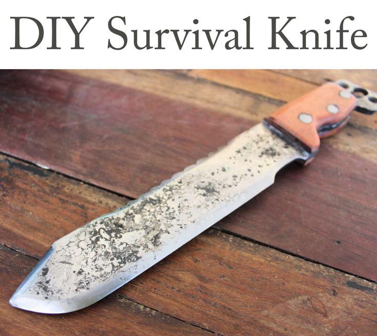 how to make a homemade knife