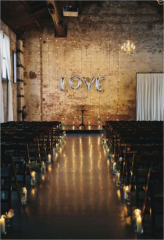 salão para cerimônia de casamento