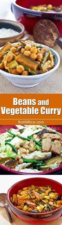 Quick and easy Beans Quick and easy Beans and Vegetable Curry...  Quick and easy Beans Quick and easy Beans and Vegetable Curry with long beans chickpeas tempeh eggplant and cabbage. Serve over rice for a delicious vegetarian meal.   RotiNRice.com Recipe : http://ift.tt/1hGiZgA And @ItsNutella  http://ift.tt/2v8iUYW