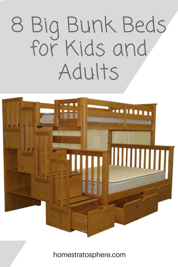 8 Big Bunk Beds For Kids And Adults Bunk Beds Bed Kids Bunk Beds