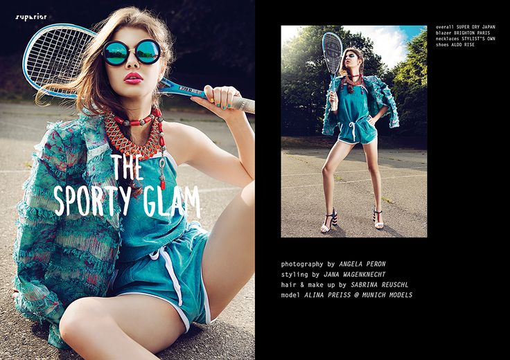 THE SPORTY GLAM - Fashion Editorial by Angela Peron