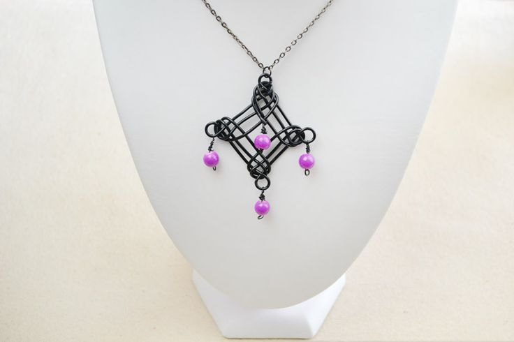Homemade Necklaces DIY - Design Your Own Necklace Pendant with Aluminum Wire and Stone Beads – Pandahall