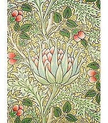 """Artichoke"" wallpaper, by John Henry Dearle for William Morris & Co., circa 1897"