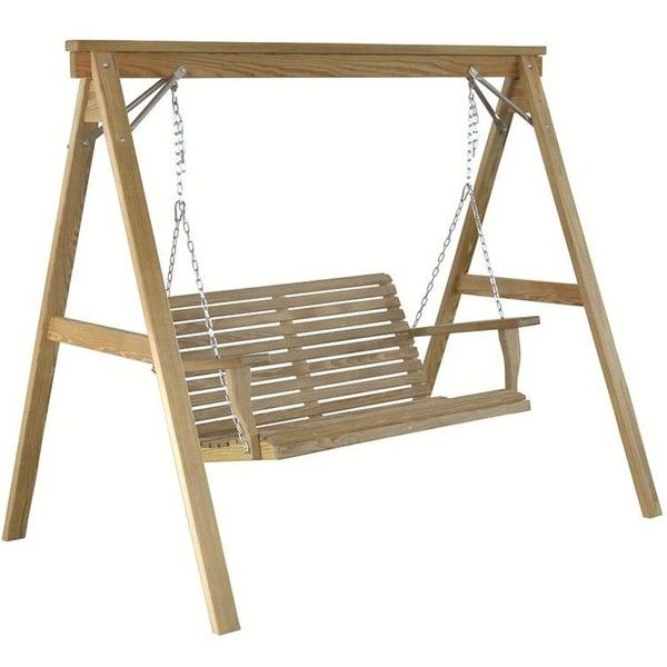 Amish Handcrafted Pine Outdoor Swing Frame For 4u0027 Swing ($184) ❤ Liked On