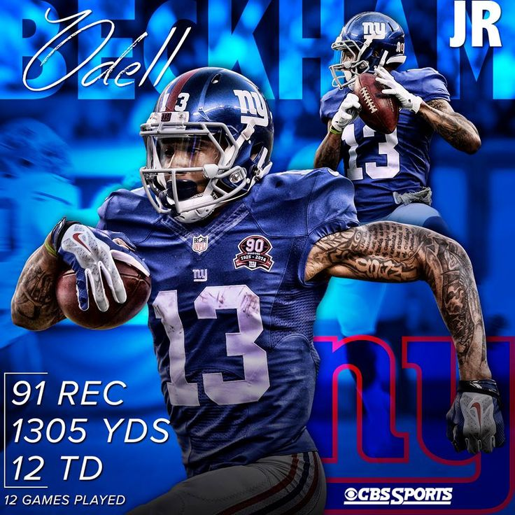 Odell Beckham Jr. #NYG - - New York Football Giants #nfl