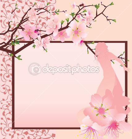 Menina bonita com um vestido rosa — Ilustração de Stock #24982993