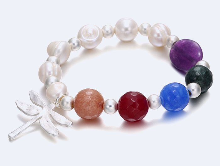 Europe Fashion Handmade Beads Charm Bracelet, Freshwater Pearl Natural Gemstone Beaded Bracelet