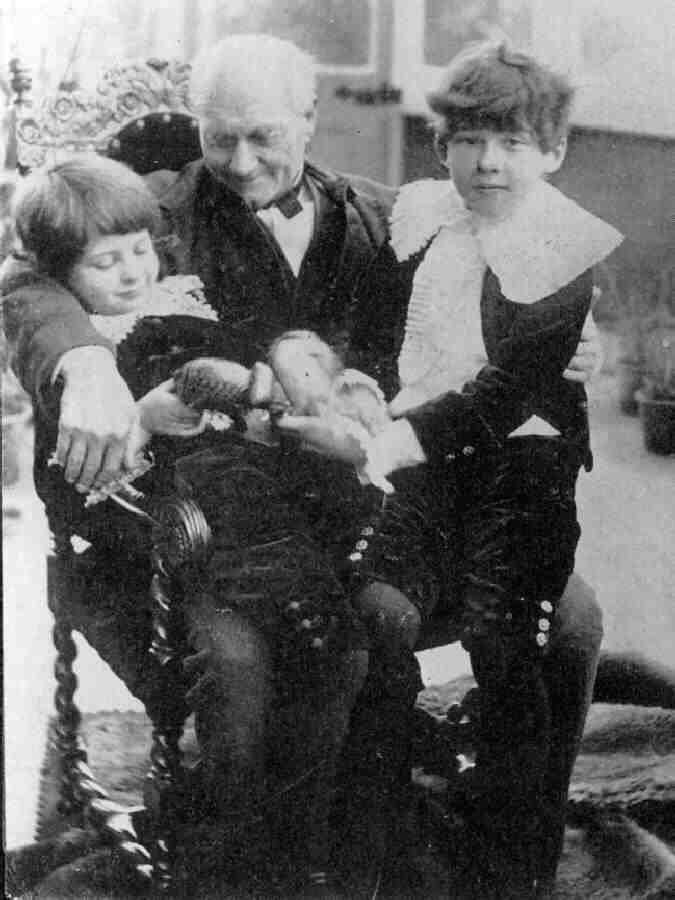 Vyvyan & Cyril Wilde (with maternal grandfather?) - the family surname was changed to Holland by their mother due to Oscar's very public downfall.