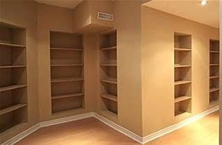 maximum storage for small finished basement - Bing Images