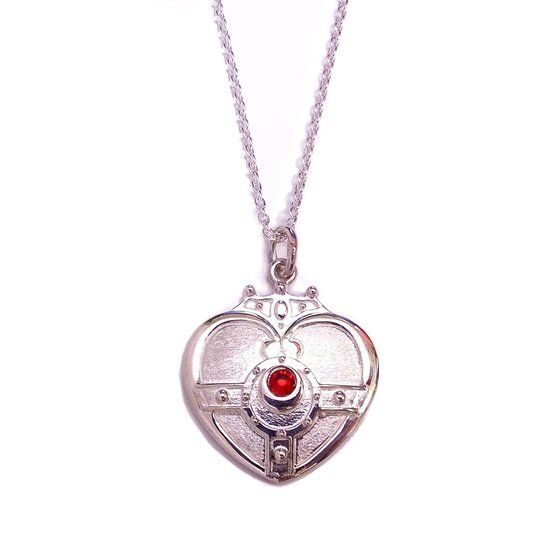 Premium Bandai Sailor Moon S Cosmic Heart pendant (silver)! More info and shoppings links here http://www.moonkitty.net/reviews-buy-sailor-moon-jewelry.php #SailorMoon