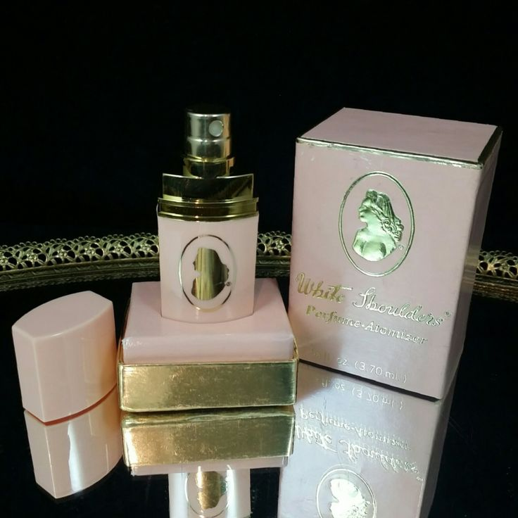 NOS Vintage White Shoulders Perfume Atomizer Full Unused Perfume With Box by OldGLoriEstateSale on Etsy