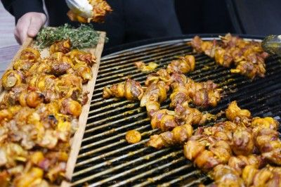 Springbok Sosatie Skewers on the BBQ by Nyama Catering