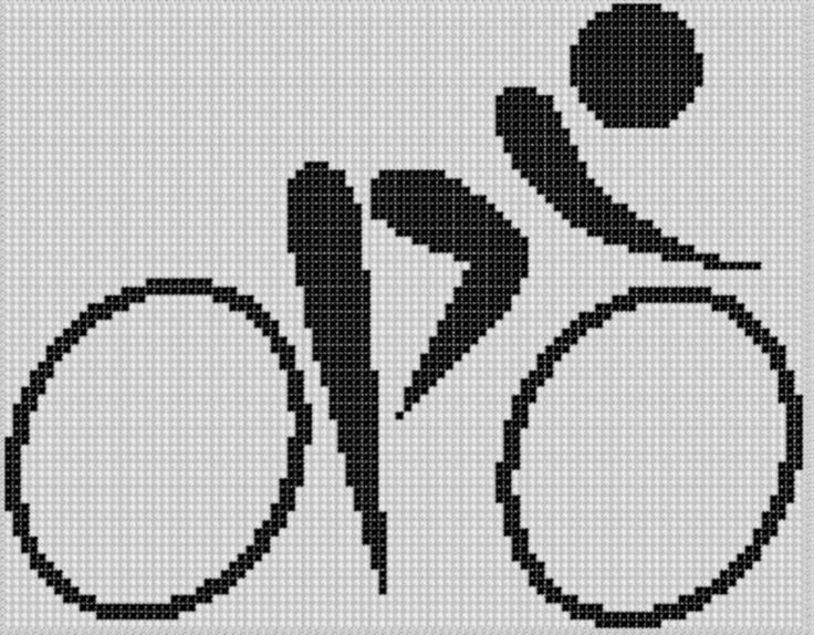 Bicycle Cross Stitch Pattern