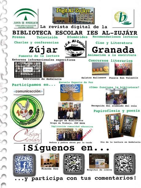 Servicios, programas y actuaciones de la biblioteca escolar del IES Al- Zujáyr, Zújar. Vía José Antonio Reyes