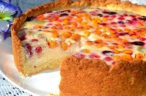песочный пирог с ягодно-творожной начинкой