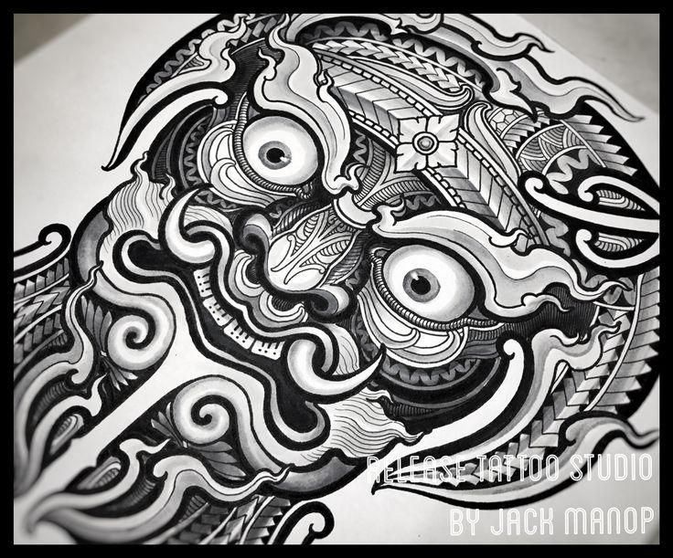 Release tattoo Maori tattoo Thai tattoo Jack manop ยักษ์  Black work