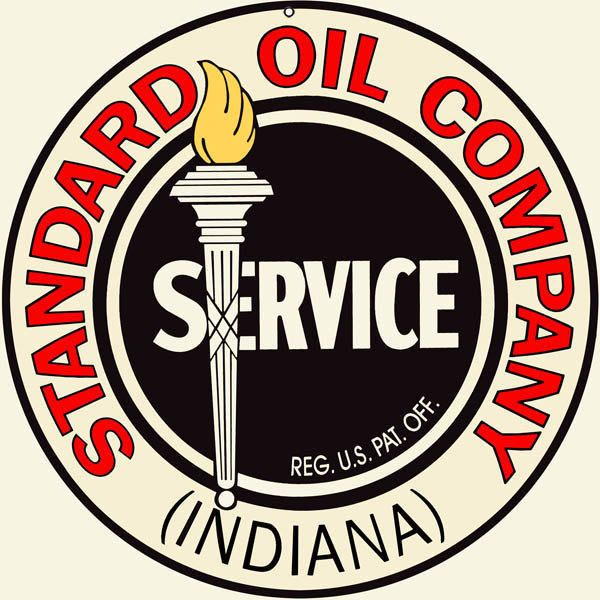 Standard Oil Company if Indiana, Large Aluminum Metal Sign, 3 Sizes Available, USA Made Vintage Style Retro Garage Art by HomeDecorGarageArt on Etsy